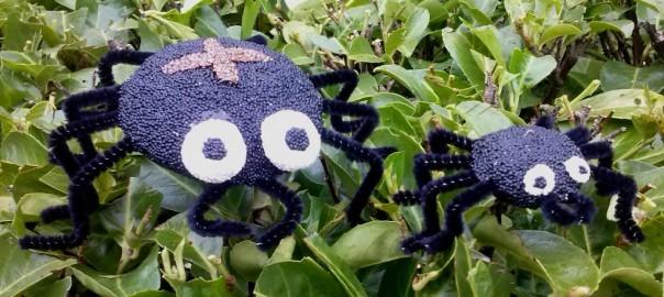 Spinnen van zelfdrogende klei in de herfst