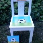 kraam cadeau beschilderd stoeltje
