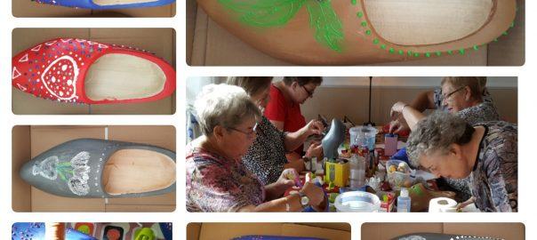 Creatieve workshop met high tea klomp versieren