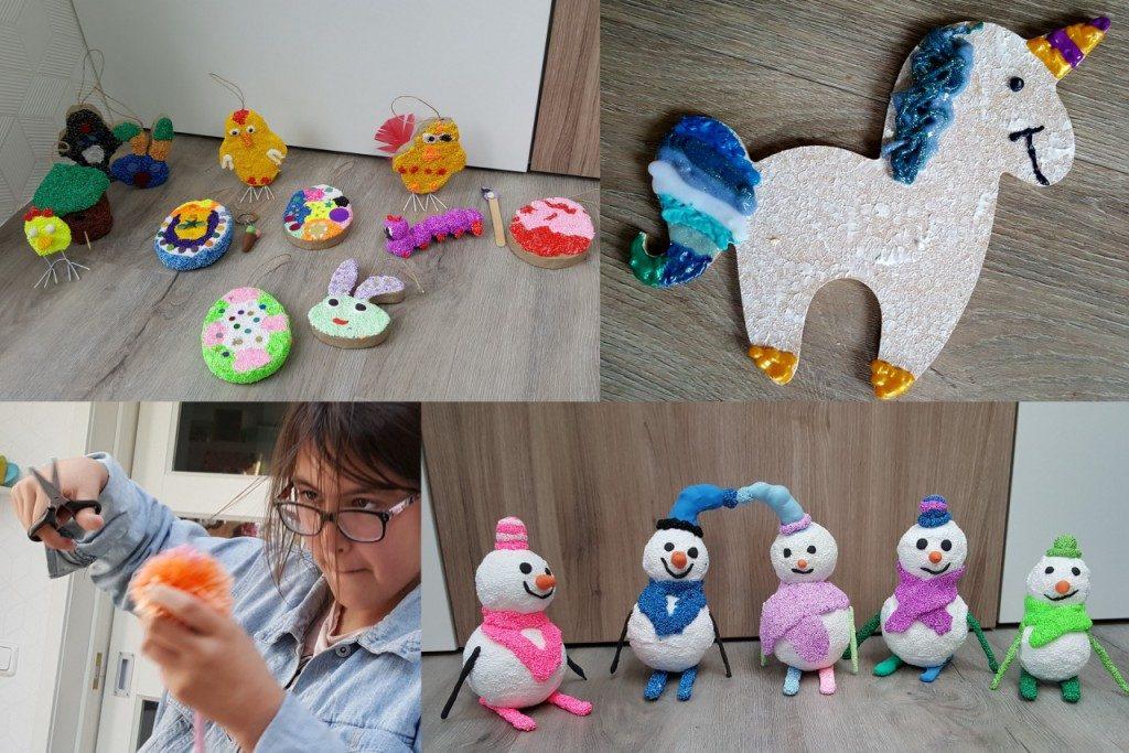Zomaar een paar foto's van de projecten van de kinderen bij Crea voor Kids.